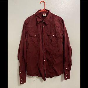 True Religion Snap Button Down Shirt